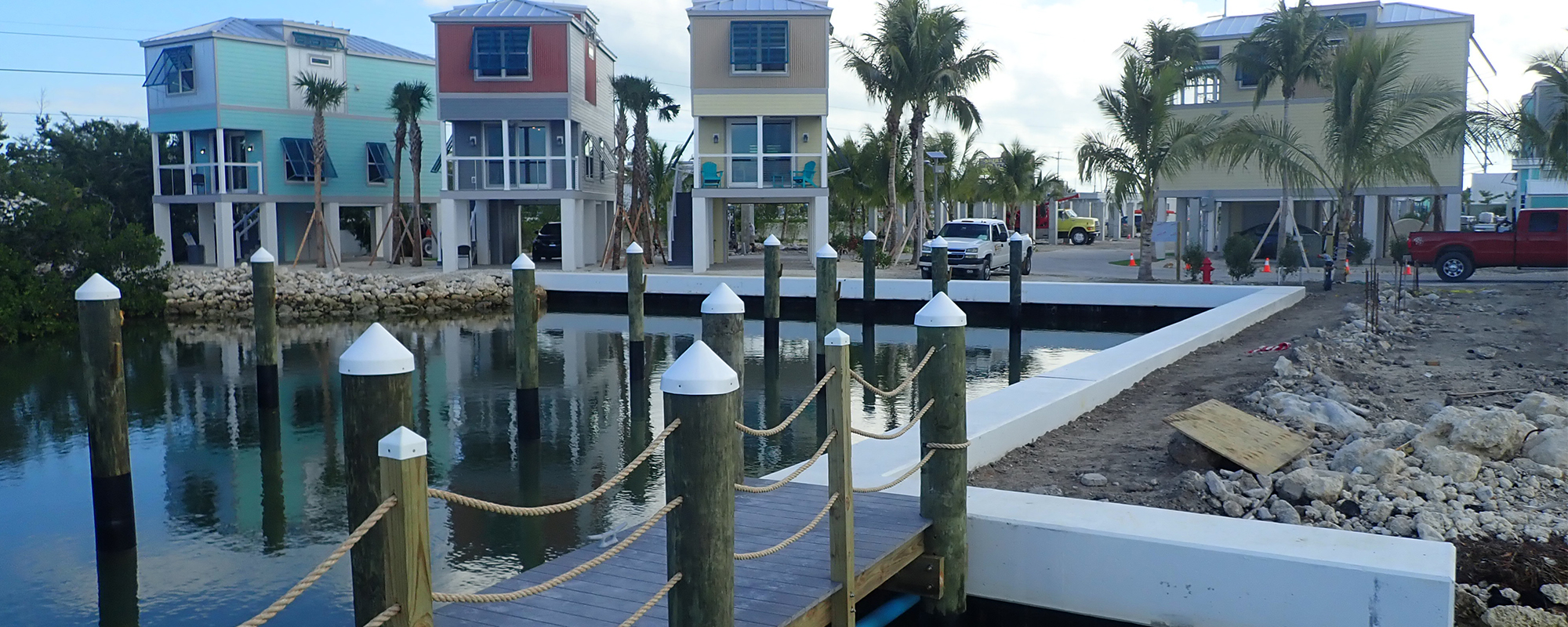 Seawall and Marina Design at Ocean Breeze Community