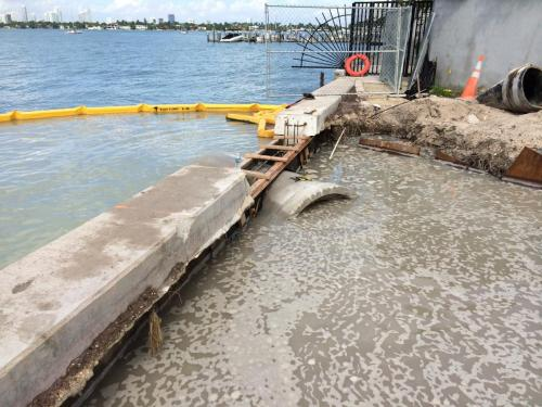 seawall and outfall
