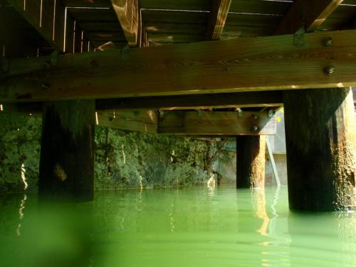 underneath dock view