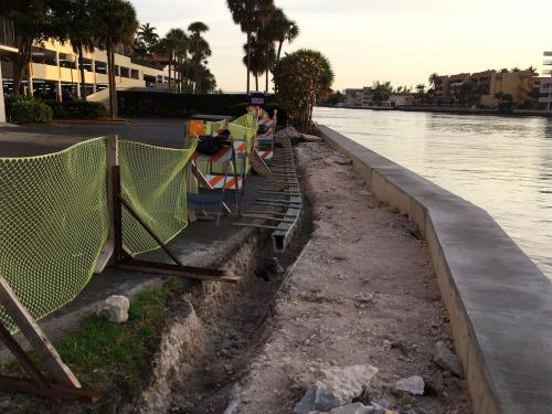 seawall construction phase